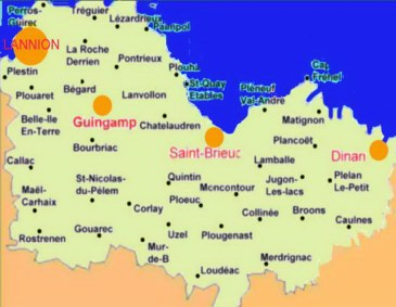 Carte Bretagne Cote Darmor.Vacances En Bretagne Lannion Perros Guirec Cote De Granit